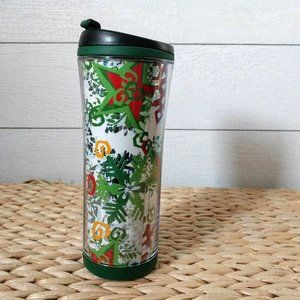Starbucks Hot Beverage Holiday Tumbler Circa 2007